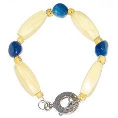 Blue and Beige Men's Bracelet