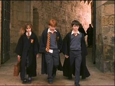 I loved the costumes in the first movie....Hermione Granger (Emma Watson), Ron Weasley (Rupert Grint), and Harry Potter (Daniel Radcliffe)