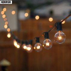 Globe Bulb String Lights with 25 Clear Ball Vintage Bulb Indoor/Outdoor Hanging Umbrella Patio String Lighting Fixtures - String Lights Outdoor Patio String Lights, Globe String Lights, Christmas String Lights, String Lighting, Light String, Hanging Lights, Vintage String Lights, Hanging Rope, Hanging Lanterns
