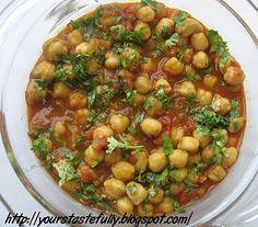 Yours Tastefully: Channa Masala / Chole masala