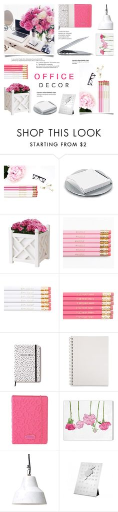 """""""Floral Office Decor"""" by c-silla on Polyvore featuring interior, interiors, interior design, home, home decor, interior decorating, blomus, Mead, Marc by Marc Jacobs and Oliver Gal Artist Co."""