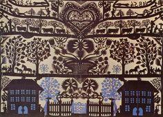 Papercut by Johann-Jakob Hauswirth, Book Art, Illustration Example, Origami, Contemporary Decorative Art, Snowflake Cutouts, Polish Folk Art, Paper Wall Art, Paper People, Paper Book