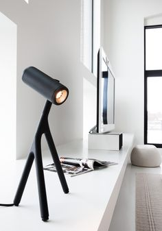 Modular Lighting Instruments, in their first collaboration with DutchBleijh Industrial Design Studio, have created Médard, a desk lamp inspired by a stick-insect.