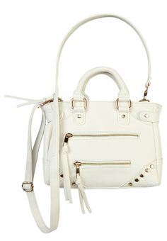Studded With Zippers Crossbody Bag