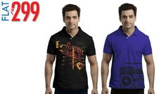 Graphic Polo Tees for men's worth Rs.699 at Rs.333 @ Inkfruit