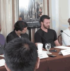 I was looking for something special, and I found it ^^ (post 900 to this board! :D) #chris evans #sebastian stan #making each other laugh>>was Chris asleep?