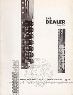 March 1961 The Dealer Magazine Caterpillar Tractor Co Peoria IL CAT Dealers