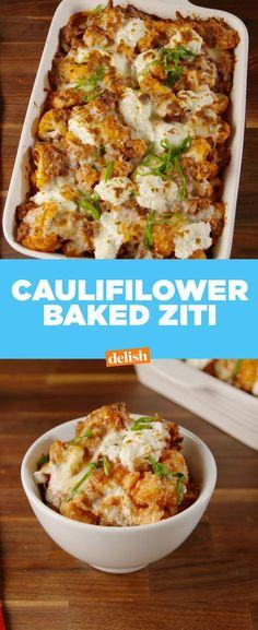 Cauliflower Baked Ziti