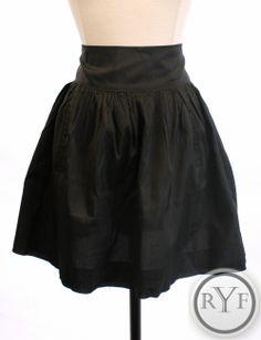 CALYPSO ST. BARTH Black SILK Above Knee ALINE Dress SKIRT S