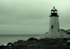 30% OFF SALE Nautical Photography - The Guardian - 5x7 Inch Fine Art Ocean Photography Print - Maine Lighthouse-coastal
