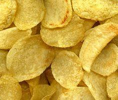 Chips is oorspronkelijk in 1853 bedacht door de Amerikaanse kok George Crum toen een ontevreden klant klaagde dat zijn aardappelschijfjes te dik, te klef en niet voldoende gezouten waren. Crum voelde zich toen zwaar beledigd en sneed ze flinterdun en bakte ze door, waarna hij ze aan zijn lastige klant serveerde, die ze vervolgens met veel smaak verorberde. Zijn cynische grap bleek het begin te zijn van een doorslaand succes, de chips waren geboren.