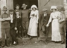 Soldier's wedding, 1914. [P1-47-462] | Upper Hutt City Library City Library, Lest We Forget, Bride Gowns, World War One, Brides, Posters, Pictures, Wedding, Image