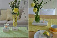 Sommerdeko mit Zitronen