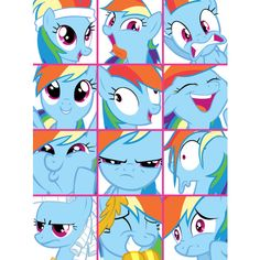 RainbowDash icons My Little Pony Friendship is Magic ❤ liked on Polyvore featuring my little pony, mlp and rainbow dash
