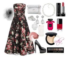 """""""engagement's garden party"""" by iethamutz on Polyvore featuring Alexander McQueen, Jimmy Choo, Carolee, Kenneth Jay Lane, Forever 21, Marc Jacobs, Chanel, NYX and NARS Cosmetics"""