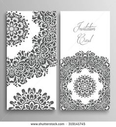 Invitation, vector wedding invitation card