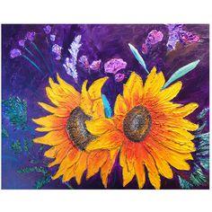 Sun Flowers  Print of an original acrylic by aSplashofGray on Etsy, $25.00
