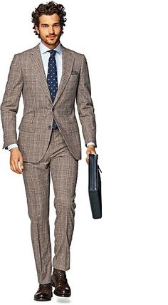 Suit_Brown_Check_Lazio_P3915I