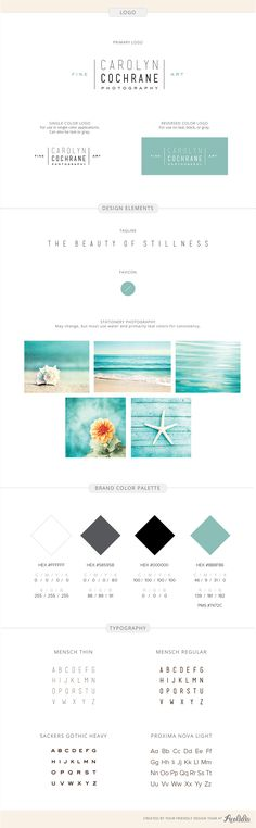 Branding identity design for Carolyn Cochrane Photography- by Aeolidia