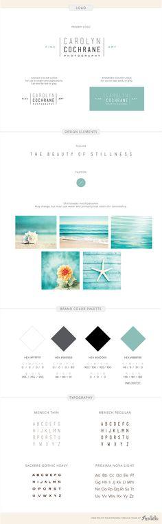 Branding identity design for Carolyn Cochrane Photography- by Aeolidia