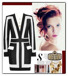 """Untitled #277"" by fashionista-jaygee ❤ liked on Polyvore featuring moda, Balmain, Giuseppe Zanotti, Oscar de la Renta, Charlotte Russe y Charlotte Tilbury"