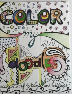 Color My Doodles Blossoms Flowers Leaves coloring book by DoodledrawnbySonja on Etsy