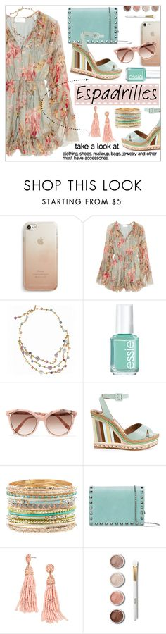 """""""Espadrilles"""" by calamity-jane-always ❤ liked on Polyvore featuring Rebecca Minkoff, Zimmermann, Marco Bicego, Essie, Victoria Beckham, Accessorize, Valentino, Terre Mère, valentino and espadrilles"""