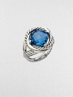 David Yurman - Blue Topaz and Sterling Silver Ring at London Jewelers!