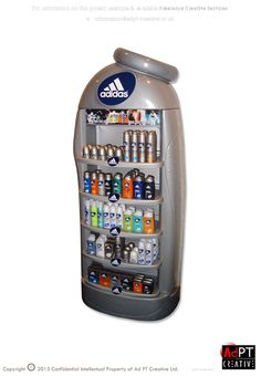 Retail Point of Purchase Design | POP Design | Health & Beauty POP Display | Adidas - New Product, Display Facsimile