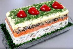 Король стола – просто необыкновенный салат – Hi, ich bin Mustafa. Food Design, Design Design, Sushi Recipes, Cooking Recipes, Chicken Fajita Casserole, How To Cook Meatballs, Good Food, Yummy Food, Party Buffet