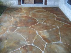 redo patio with spray paint concrete mold and clear concrete sealer. Black Bedroom Furniture Sets. Home Design Ideas