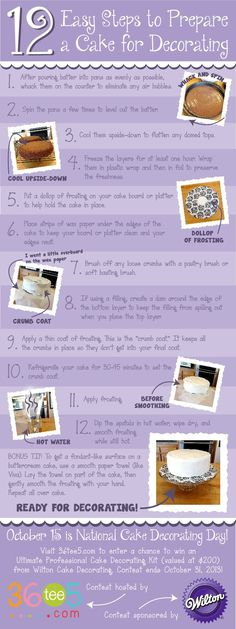 12 Easy Steps to Prepare a Cake for Decorating AND Enter to Win a Wilton Ultimate Professional Cake Decorating Kit!