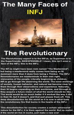 The many faces of the Infj: Revolutionary
