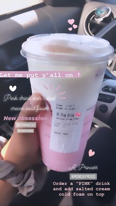 Bebidas Do Starbucks, Healthy Starbucks Drinks, Yummy Drinks, Starbucks Hacks, Starbucks Secret Menu Drinks, Starbucks Coffee, Pink Starbucks, Smoothies, Fruit Smoothie Recipes