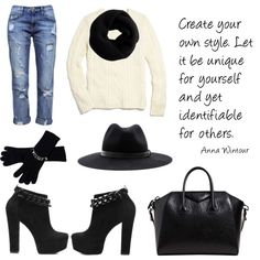 A fashion look from December 2013 featuring white sweater, ripped jeans and Givenchy. Browse and shop related looks. Anna Wintour, White Sweaters, Ripped Jeans, Givenchy, 30th, Fashion Looks, Unique, Polyvore, Shopping