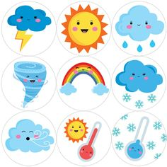 144 Cute Weather 30 mm Reward Stickers for School Teachers, Parents and Nursery Teaching Weather, Preschool Weather, Weather Crafts, Weather Activities, Kindergarten Learning, Preschool Learning Activities, Preschool Activities, Kids Learning, Preschool Charts