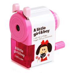 Deli Cartoon Little Girl / Boy  Style Manual Pencil Sharpener #women, #men, #hats, #watches, #belts