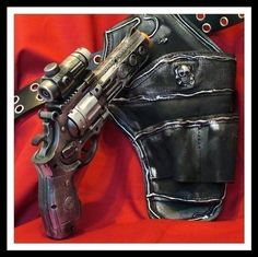 Steampunk victorian pirate gothic Gun Holster BELT PostApocalyptic Zombie Fall out ----- DIRECTLY from YEAR 2053