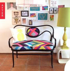 Before & After: Unloved Bentwood Bench Becomes a Major Smile-Maker