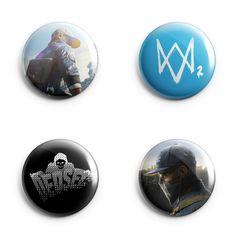 WatchDogs 2 *** PINS BUTTONS BADGES (Ubisoft, Video Games)
