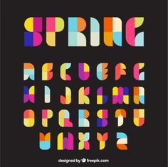 Colorful typography Free Vector