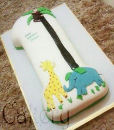 #number one #fondant #birthday #cake #forest Safari Cakes, Fondant Cakes, Beautiful Cakes, Chocolates, Party Time, Birthday Cake, Cookies, Number, Desserts