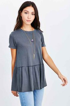 Truly Madly Deeply Dusty Road Peplum Tee - Urban Outfitters