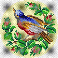 Bird With Rose Bu