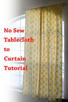 When we moved a few weeks ago we sold on of our dining tables since we would no longer have room for two. The one we sold was a little beat up on top and I had purchased <em class=short_underline> a tablecloth </em> <em> (which I absolutely loved) </em> from Target which we used on it. Now in our new house we don't have the table but we DO have a lot more windows in need of some sort of window treatments. I'm not sure if you have shoppe...