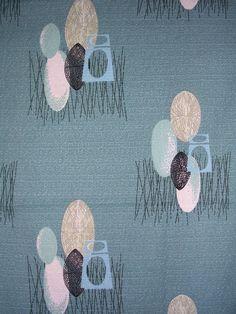 I can never have enough Vintage Barkcloth Textile Patterns, Textile Design, Textile Art, Fabric Design, Print Patterns, Pattern Design, Vintage Textiles, Vintage Patterns, Retro Fabric