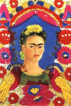 """Frida Kahlo """"Self Portrait – The Frame"""" (1938)"""