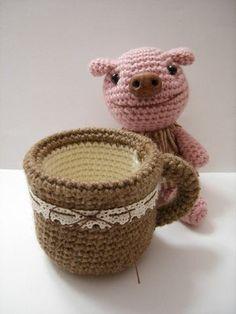 編み物陶芸「マグカップ」編み図