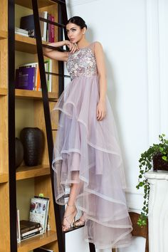 Amazing tulle dress and guipure lace / fabulous tulle gown /asymmetrical dress gown / wedding guest dress / Rochie de seara din tulle si dantela guipure / rochie eleganta - Maigre Couture Tulle Gown, Gown Wedding, Asymmetrical Dress, Couture, Amazing, Collection, Dresses, Fashion, Lean Body