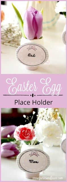 Beautiful Easter place card diy idea, that is both elegant and simple to make. #Easteregg #Easter #Easterdecor
